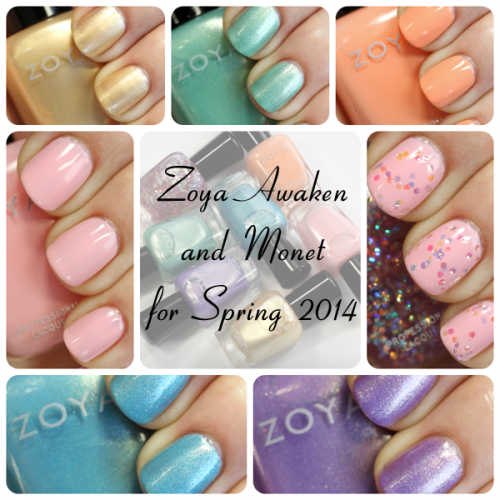 Zoya Spring 2014 - Awaken and Monet