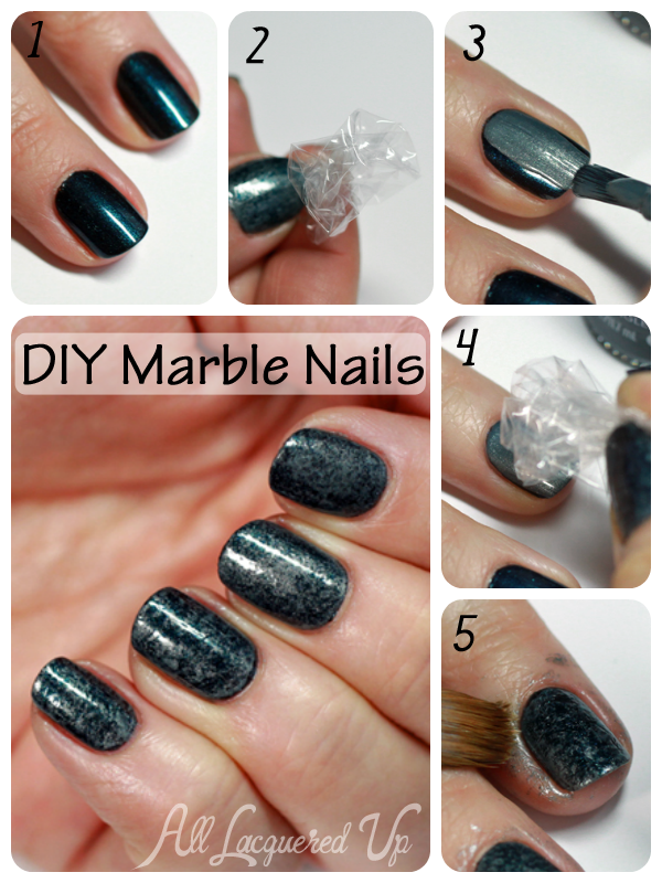 Diy Marble Nail Art Tutorial