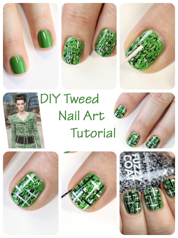 DIY Tweed Nail Art Tutorial