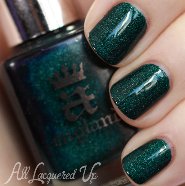 A-England St George green nail polish swatch
