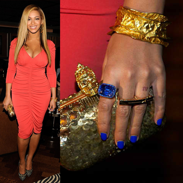 Beyonce wearing Nails Inc Baker Street