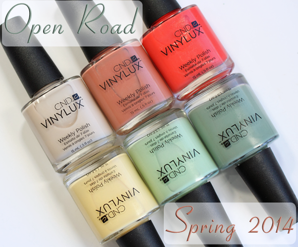 CND VINYLUX Spring 2014 Open Road swatches