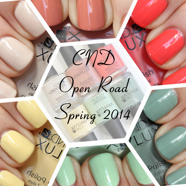 CND Spring 2014 Open Road swatches