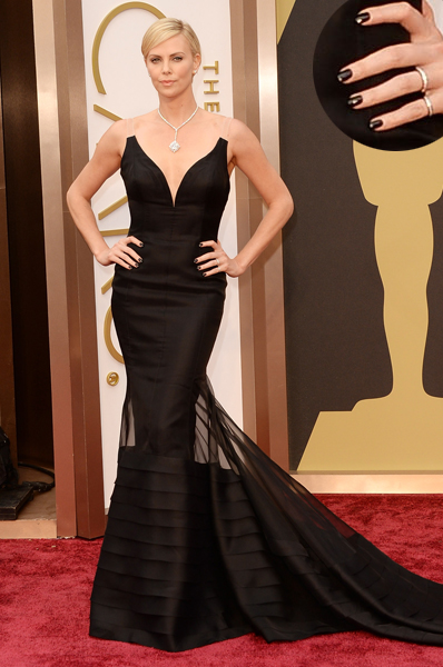 Charlize Theron Oscars 2014 nails