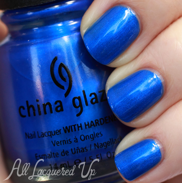 China Glaze Frostbite swatch - Cobalt Blue