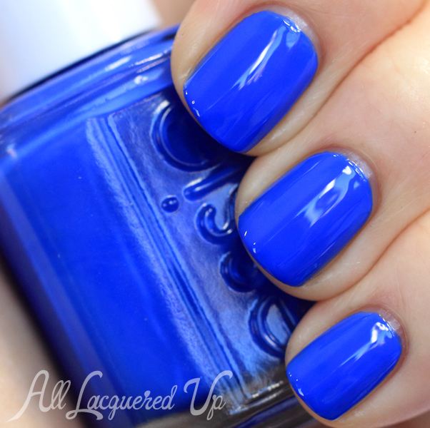 Essie Butler Please swatch - Cobalt blue