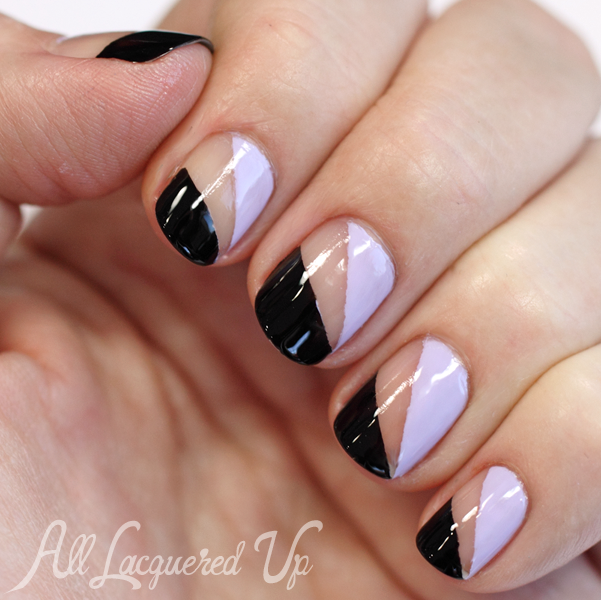 Essie Negative Space Nail Art