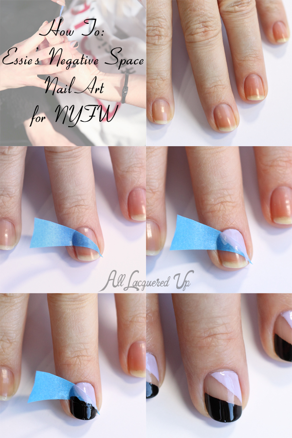 Nail Art Tutorial - Essie Negative Space Nail Art from NYFW : All ...