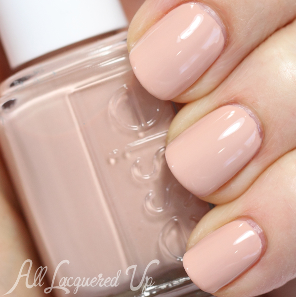 Essie Spin The Bottle nude nail polish swatch - Spring 2014