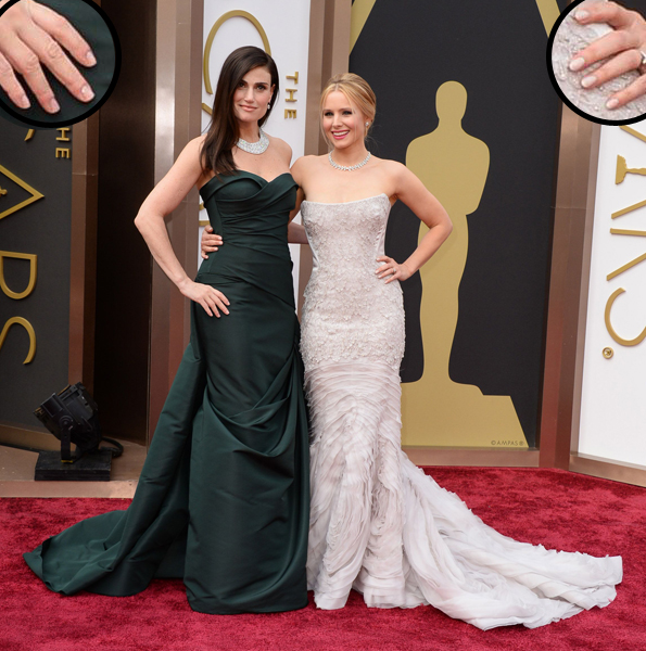 Idina Menzel and Kristen Bell Oscars 2014 nails