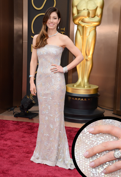 Jessica Biel Oscars 2014 nails