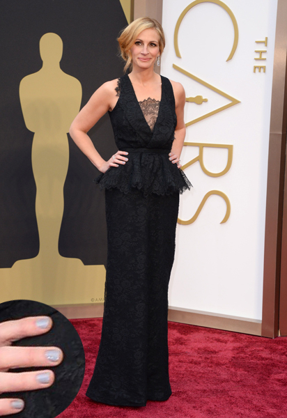 Julia Roberts Oscars 2014 nails