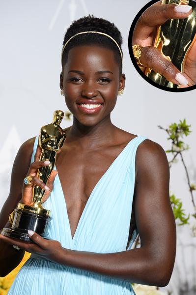 Lupita Nyong'o Oscars 2014 nails