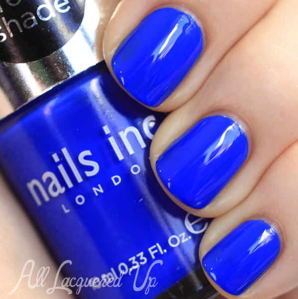 Nails Inc Baker Street swatch - Cobalt Blue