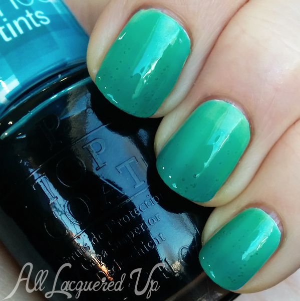 OPI I Can Teal You Like Me ombre swatch #SheerTints