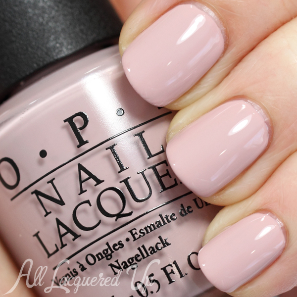 OPI My Very First Knockwurst nude nail polish swatch