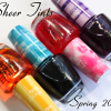 OPI Sheer Tints Top Coat Swatches and Review