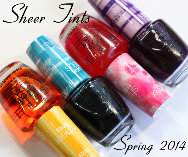 OPI Sheer Tints Top Coats for Spring 2014