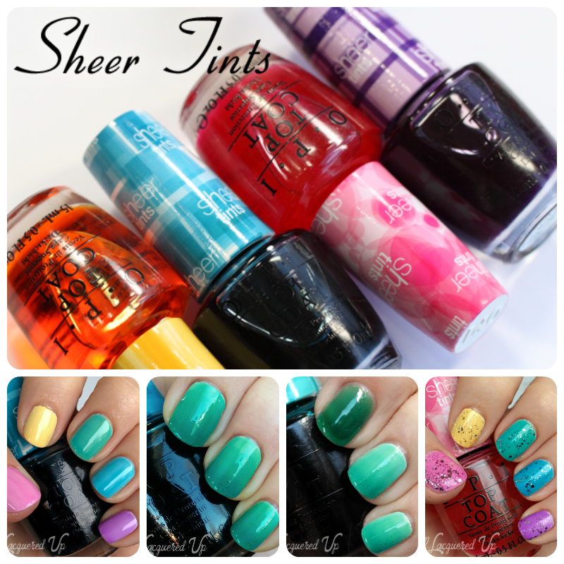 OPI Sheer Tints Top Coats