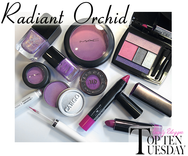 Radiant Orchid Makeup and Beauty Products