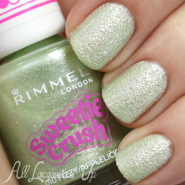Rimmel Fizzy Applelicious swatch from Sweetie Crush