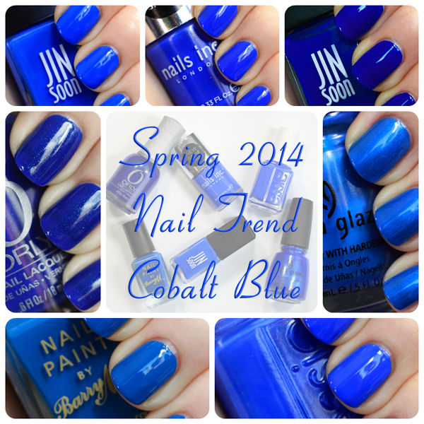Spring 2014 Nail Trend Cobalt Blue Nail Polish All Lacquered Up