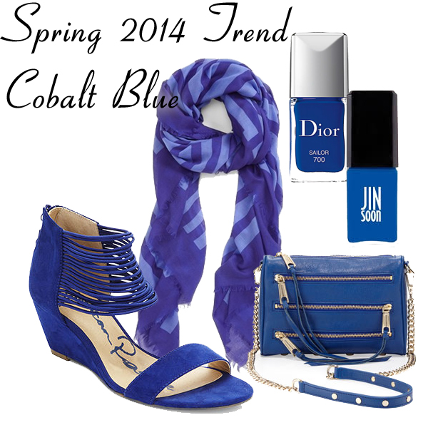 Spring 2014 Trend - Cobalt Blue Accessories and Nail Polish
