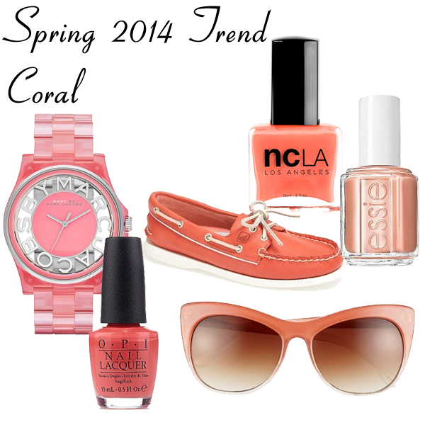 Spring 2014 Trend - Coral Accessories and Nail Polish