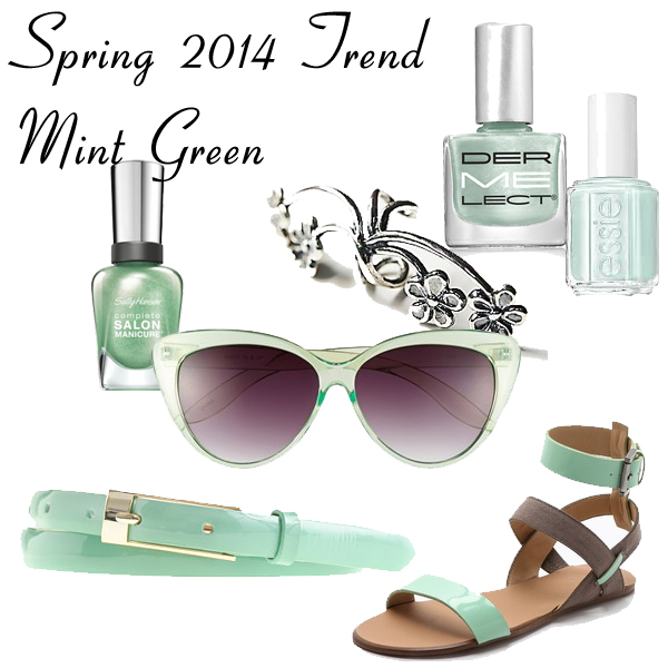 Spring 2014 Trend - Mint Green Accessories and Nail Polish