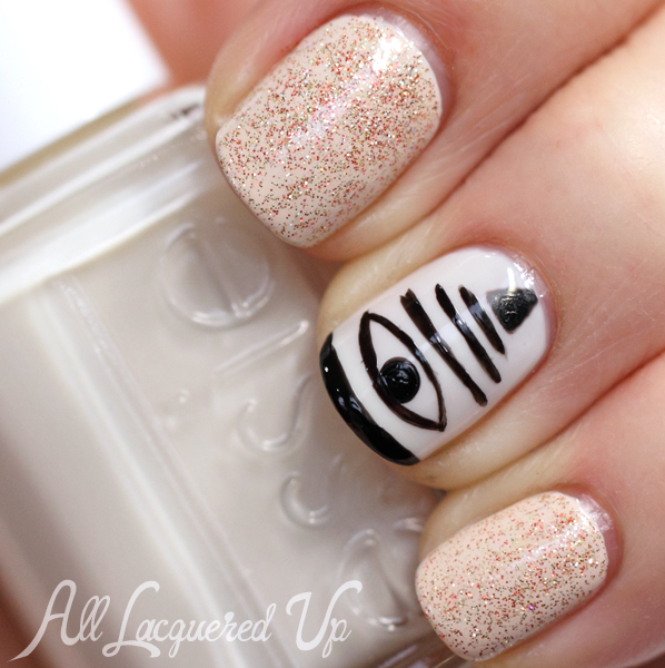 Veronica Mars nail art #Marshmallows