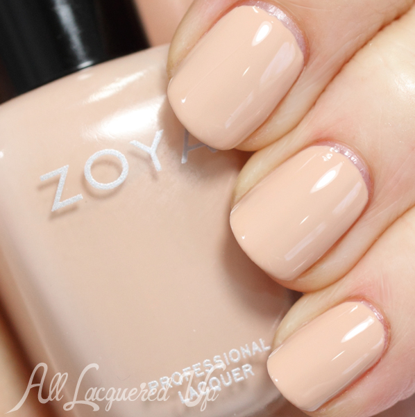 Zoya Chantal nude nail polish swatch