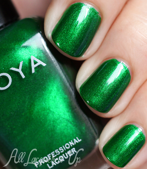 Zoya Holly green nail polish swatch