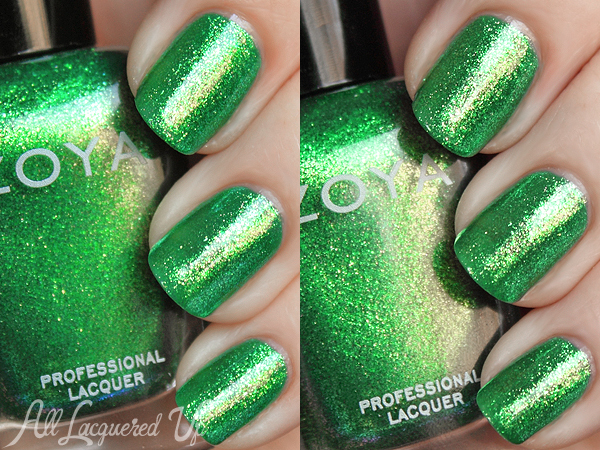 Zoya Ivanka green nail polish swatch
