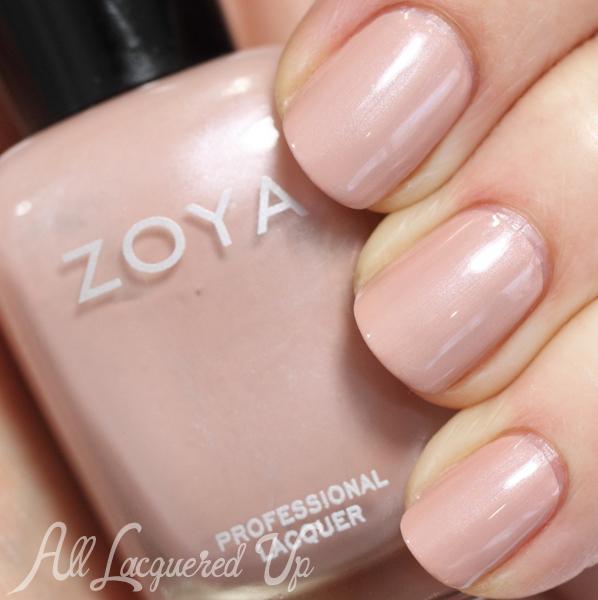 Zoya Pandora nude nail polish swatch