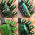 Green nail polish for St Patrick's Day