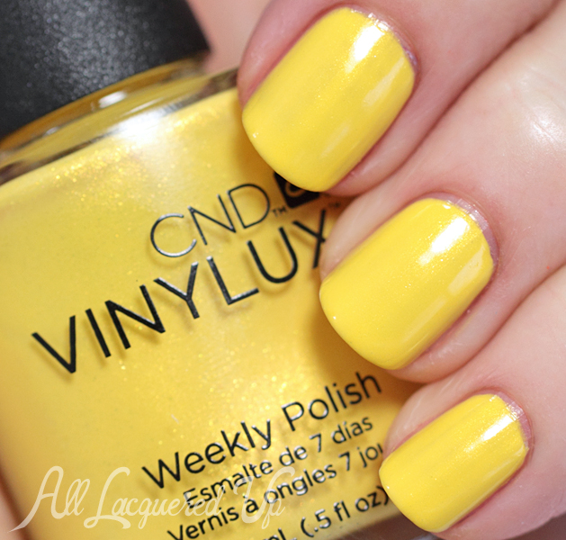 CND Bicycle Yellow VINYLUX swatch - Summer 2014