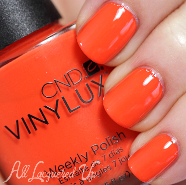 CND Electric Orange VINYLUX swatch - Summer 2014