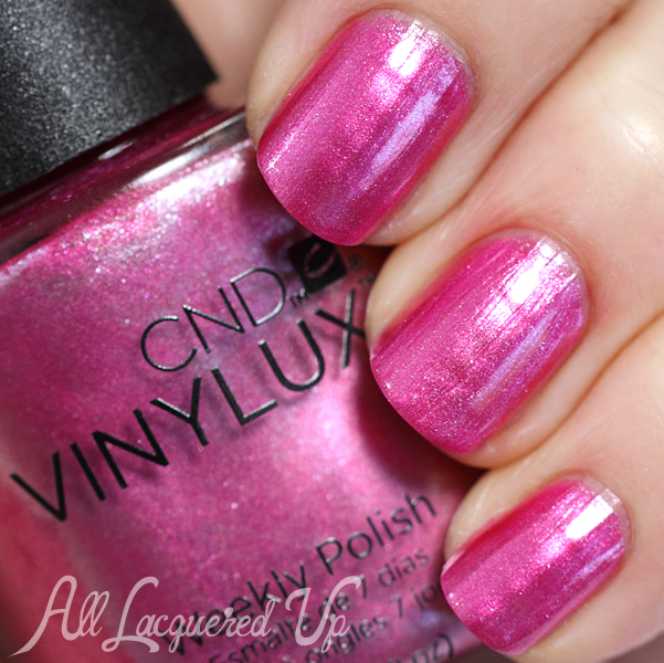 CND Sultry Sunset VINYLUX swatch - Summer 2014