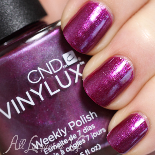 CND Tango Passion VINYLUX swatch - Summer 2014