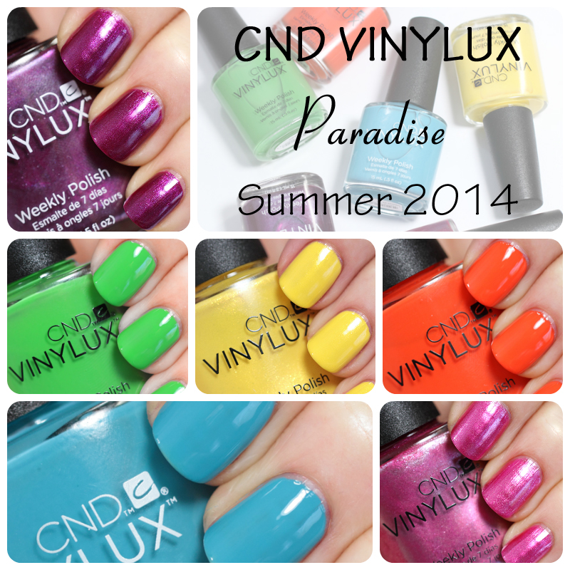 CND VINYLUX Summer 2014 Paradise collection