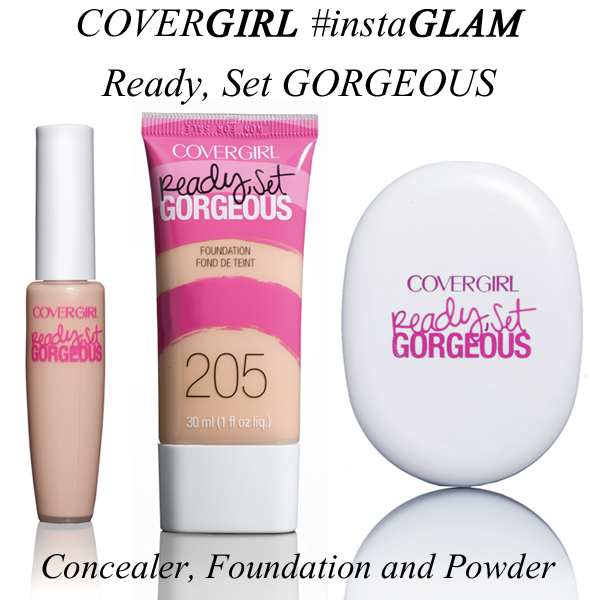 COVERGIRL Ready Set Gorgeous Concealer, Foundation and Powder #instaGLAM