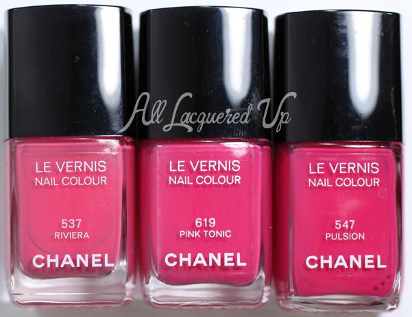 Chanel Pink Tonic Comparison