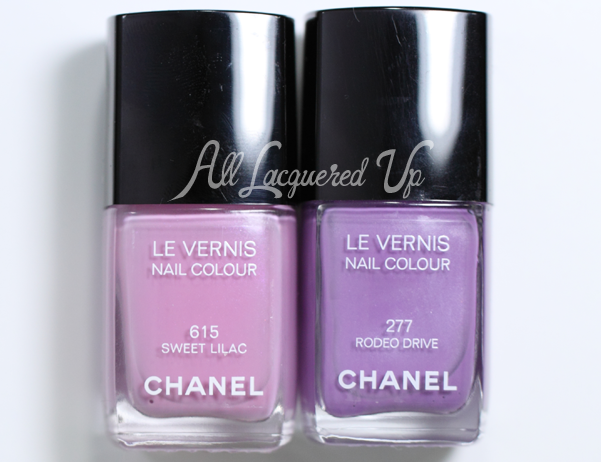 Chanel Sweet Lilac Comparison
