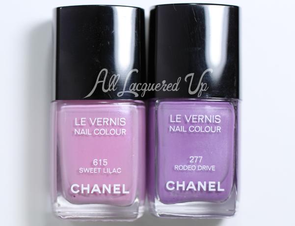 Chanel Sweet Lilac Comparison