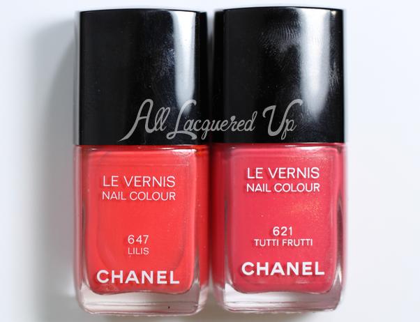 Chanel Tutti Frutti Comparsion