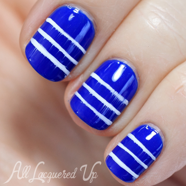 Dior Sailor Nautical Striped Nail Art