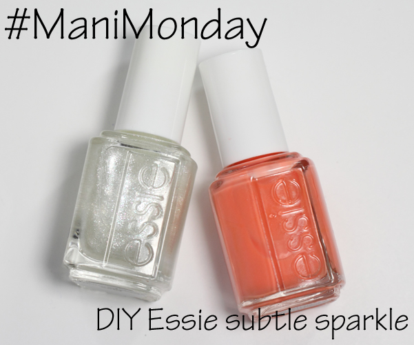 Essie Resort Fling DIY Subtle Sparkle #ManiMonday