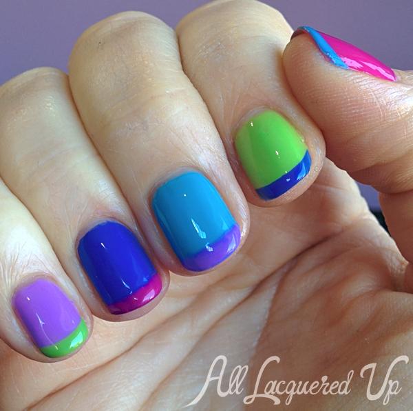 Essie Summer 2014 Neons Nail Art