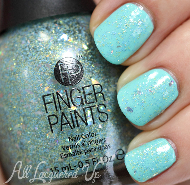 FingerPaints Crystal Springs swatch - Spring 2014