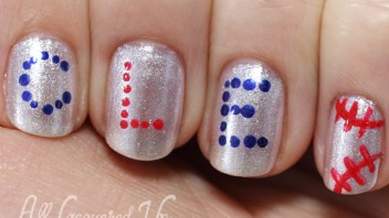 OPI MLB Collection Nail Art for the Cleveland Indians #RollTribe
